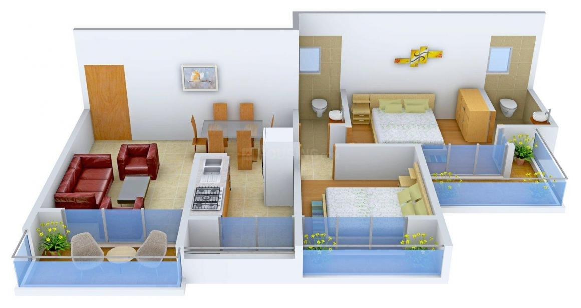 Floor Plan Image of 0 - 672.0 Sq.ft 2 BHK Apartment for buy in R D Parvati Heights
