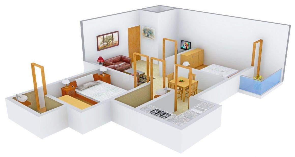 Floor Plan Image of 940 - 974 Sq.ft 2 BHK Apartment for buy in Udaya Residency