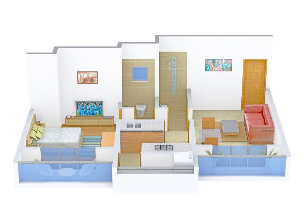 Floor Plan Image of 666 - 975 Sq.ft 1 BHK Apartment for buy in RMP Vandana Heights