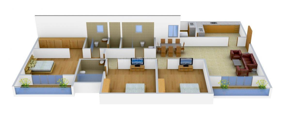 Floor Plan Image of 1335.0 - 2225.0 Sq.ft 2 BHK Apartment for buy in Adarsh Citrine