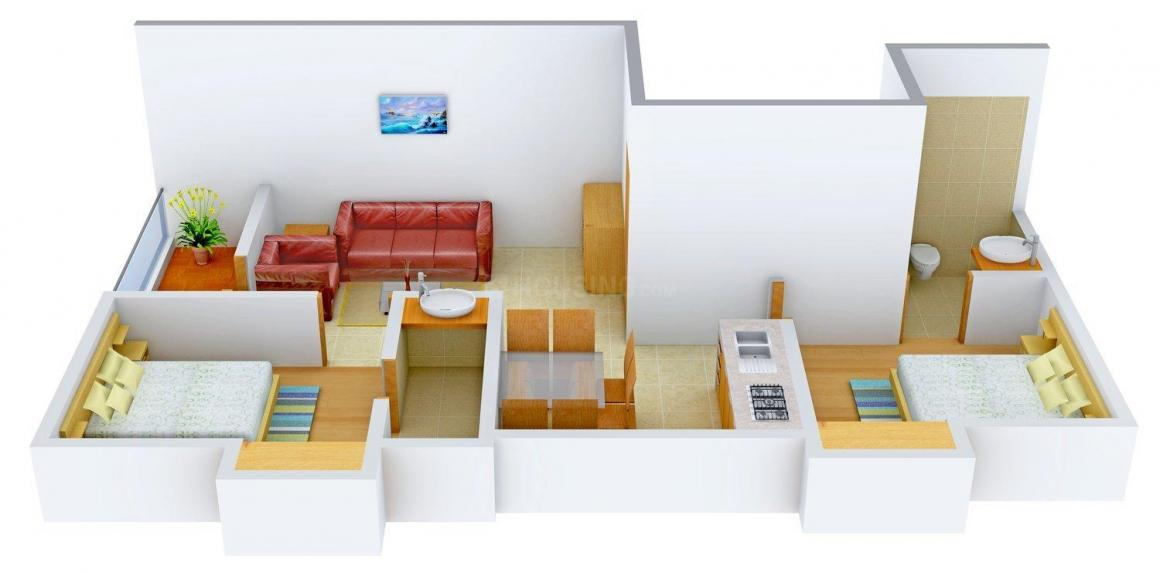 Ram 104 106 NSC Bose Road Floor Plan: 2 BHK Unit with Built up area of 930 sq.ft 1