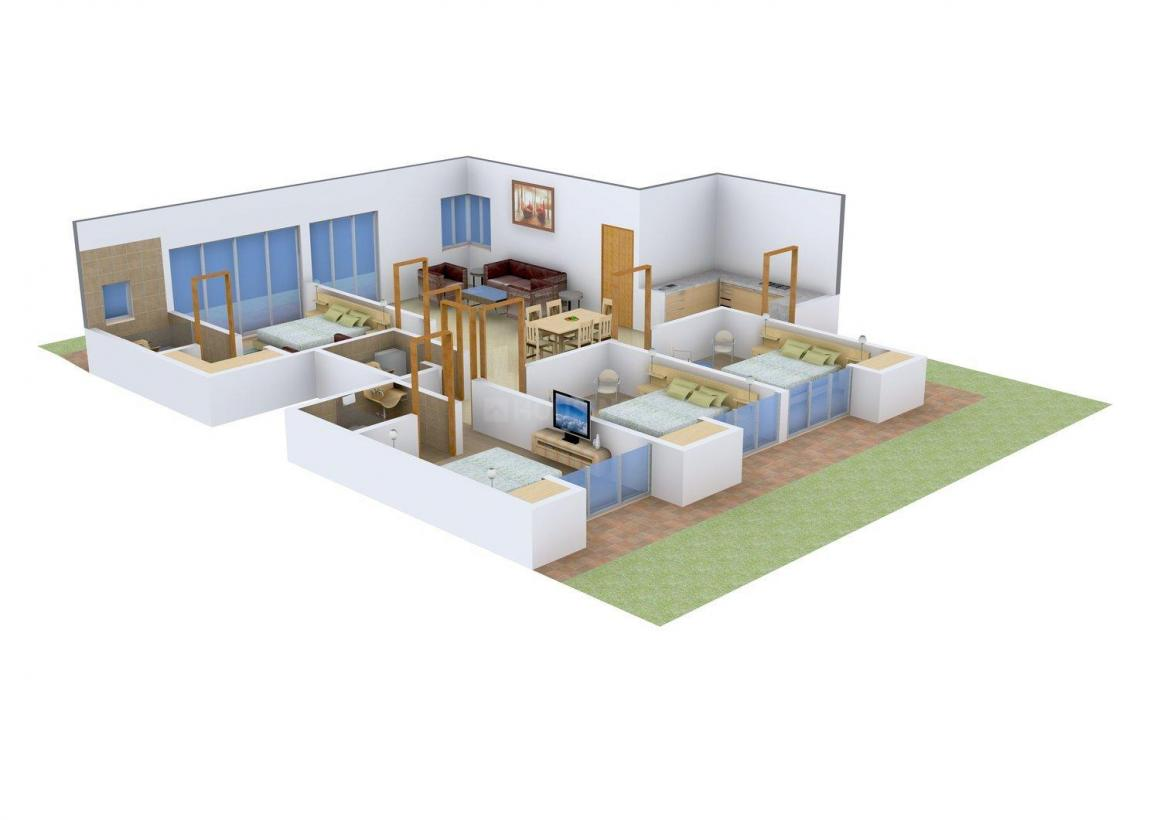 Express Express Royale Floor Plan: 4 BHK Unit with Built up area of 1725 sq.ft 1