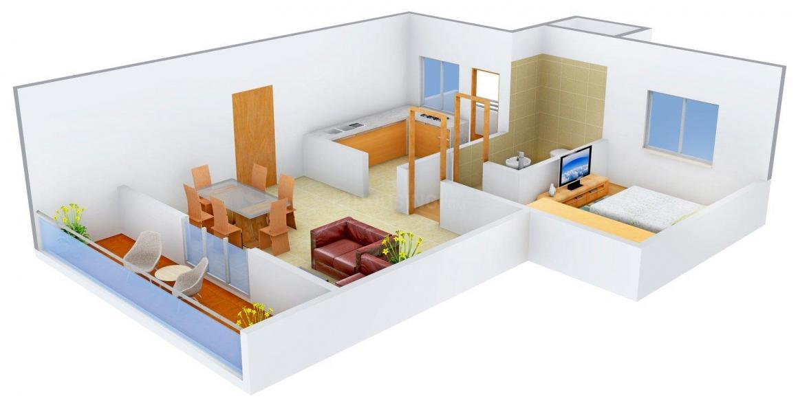Floor Plan Image of 861 - 2260 Sq.ft 1 BHK Apartment for buy in Felicity Apartments