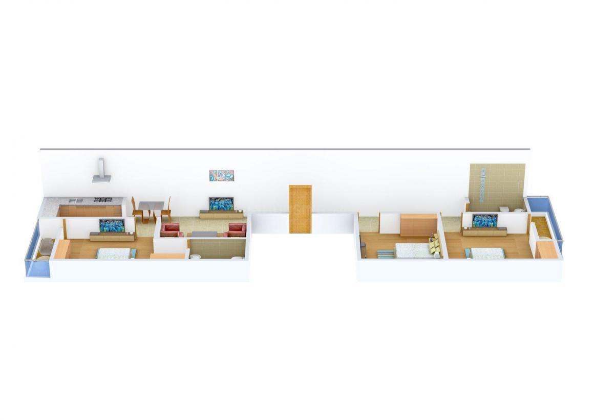 Floor Plan Image of 0 - 1035.0 Sq.ft 3 BHK Independent Floor for buy in Metro Homes  - II