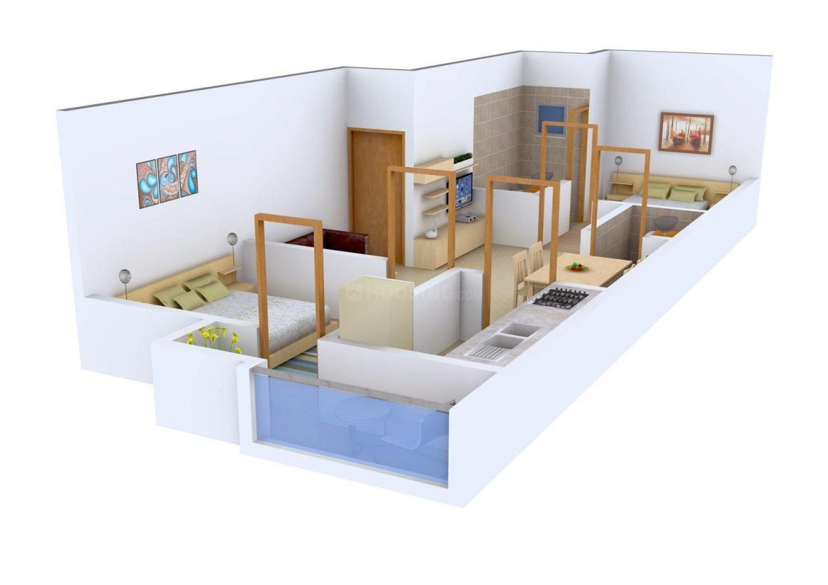 Floor Plan Image of 0 - 696.0 Sq.ft 2 BHK Apartment for buy in Arka Ashville