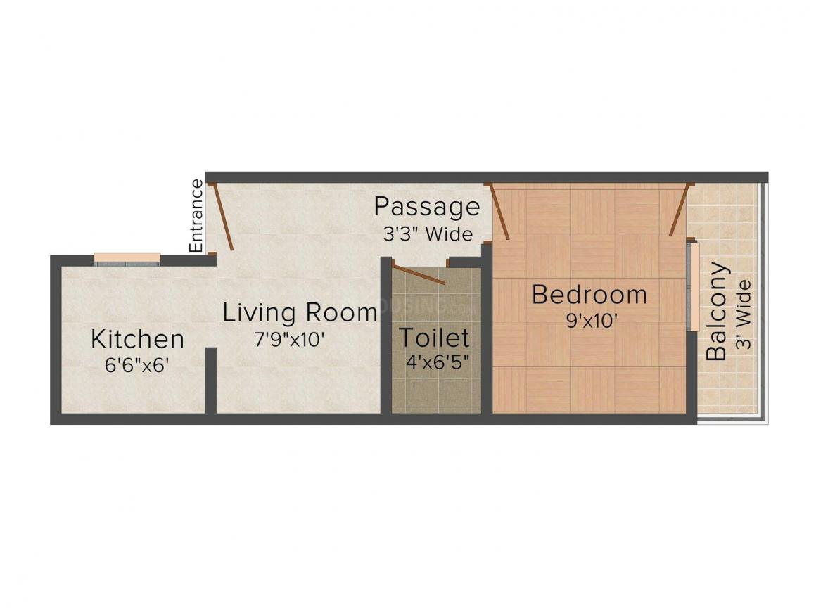 Floor Plan Image of 360.0 - 630.0 Sq.ft 1 BHK Independent Floor for buy in Goyal Apartment - 3