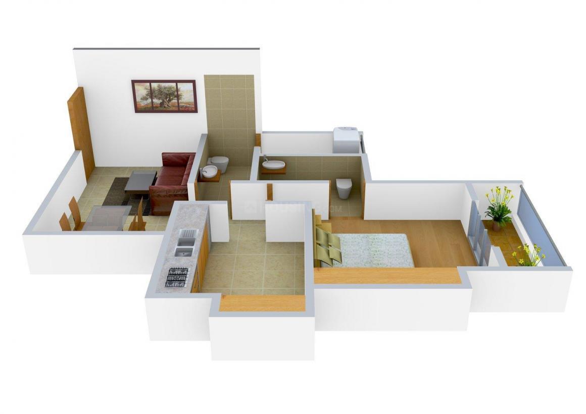 Floor Plan Image of 430.0 - 743.0 Sq.ft 1 BHK Apartment for buy in Jaydeep Prathamesh Tower