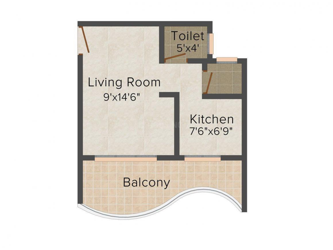 Floor Plan Image of 248 - 655 Sq.ft 1 RK Apartment for buy in Sankalp Gold Crest