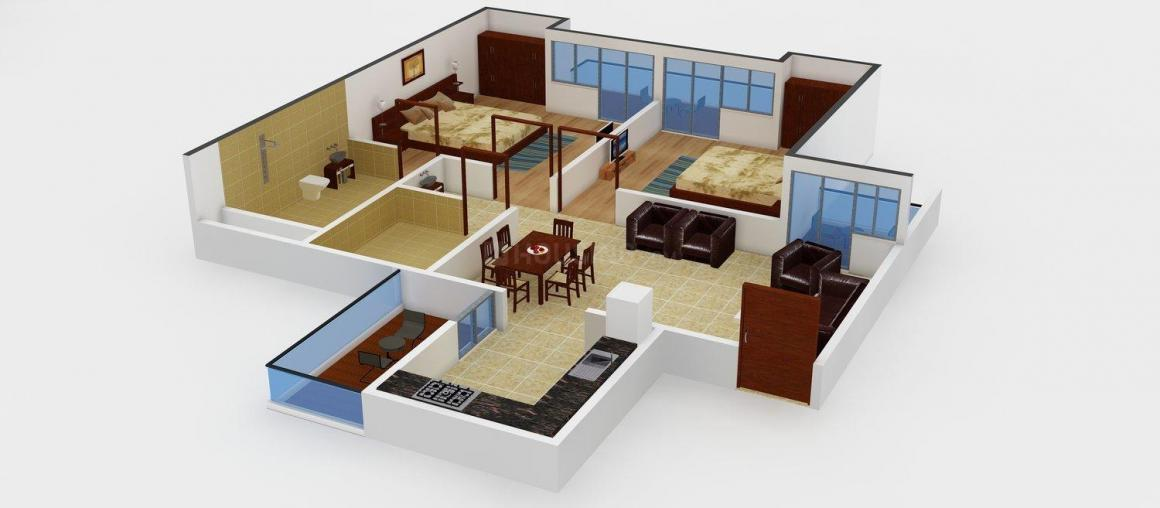 Floor Plan Image of 214 - 1800 Sq.ft 2 BHK Apartment for buy in Proplarity Pratham