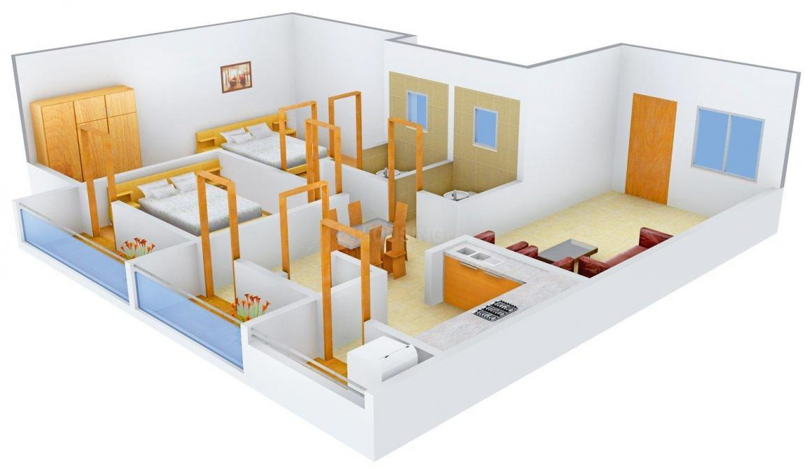 Floor Plan Image of 868.0 - 1280.0 Sq.ft 2 BHK Apartment for buy in Manasa Subhindra