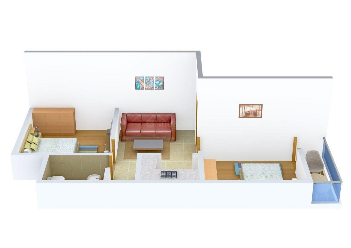 Visavi Shiv Shankar Vatika Floor Plan: 2 BHK Unit with Built up area of 585 sq.ft 1