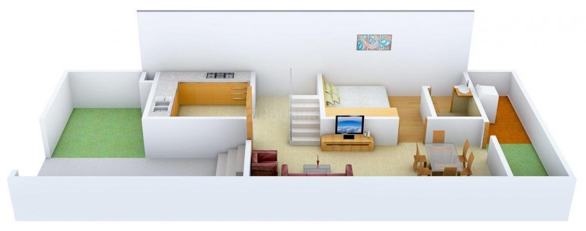 Modi Villa Orchids Floor Plan: 3 BHK Unit with Built up area of 1585 sq.ft 3