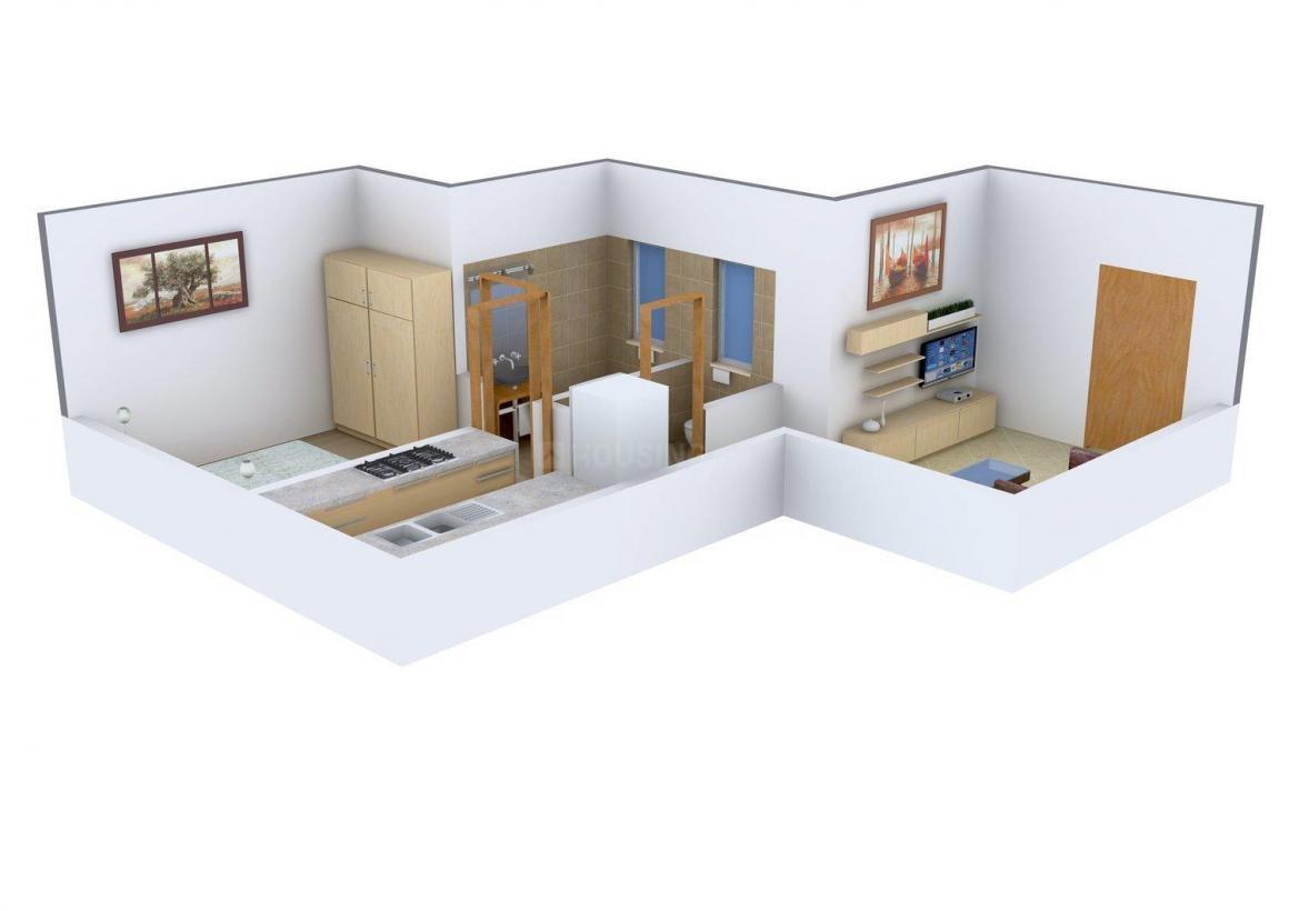 Floor Plan Image of 570.0 - 820.0 Sq.ft 1 BHK Apartment for buy in KK Avantika Tower