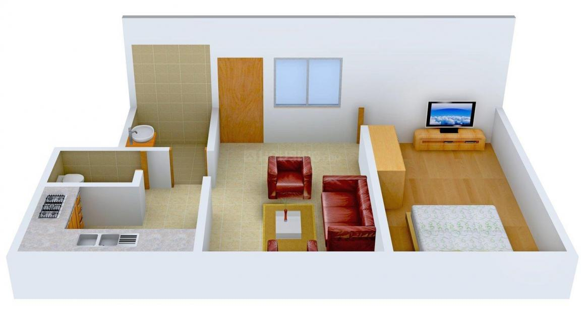 Floor Plan Image of 350.0 - 705.0 Sq.ft 1 BHK Apartment for buy in Ayan Ayan Heights
