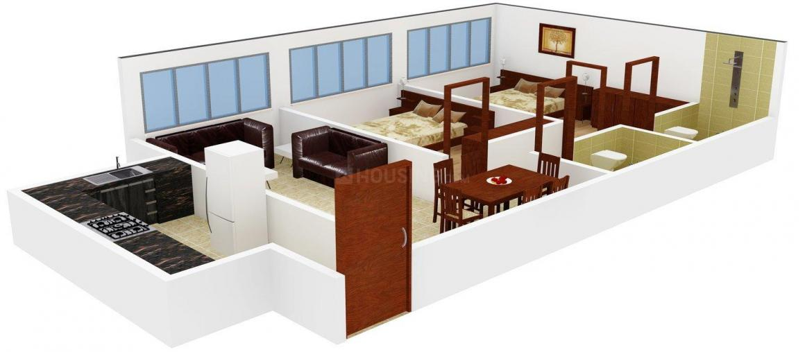Floor Plan Image of 660 - 1550 Sq.ft 1 BHK Apartment for buy in AVN Amberley Tower