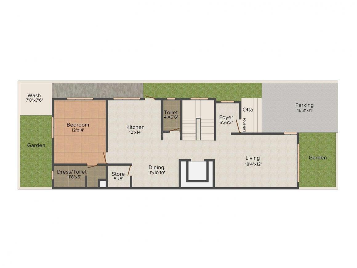 Floor Plan Image of 0 - 2900 Sq.ft 4 BHK Duplex for buy in Shreeji Lean-To