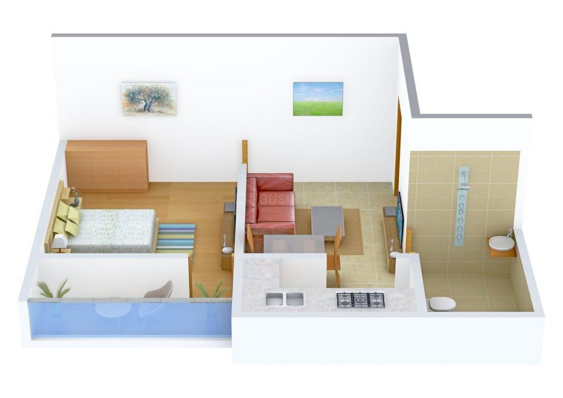 Floor Plan Image of 611 - 1335 Sq.ft 1 BHK Apartment for buy in Shreya Bijoyalex Residency