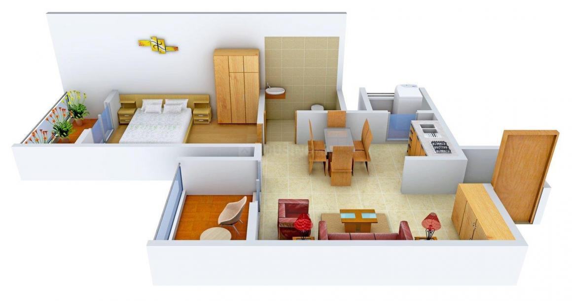 Floor Plan Image of 0 - 1000.0 Sq.ft 1 BHK Apartment for buy in Sai Sampada
