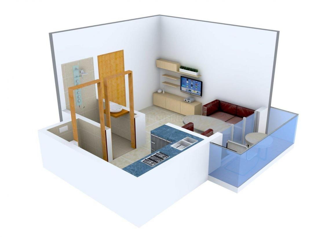 Floor Plan Image of 273.0 - 500.0 Sq.ft 1 RK Apartment for buy in Shree Sai Swaroop
