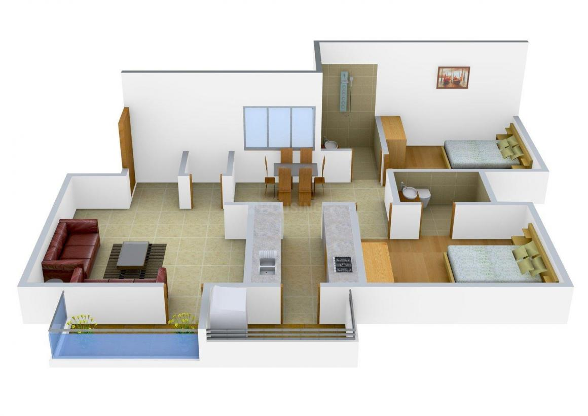 Floor Plan Image of 1170 - 1525 Sq.ft 2 BHK Apartment for buy in Max Splendor