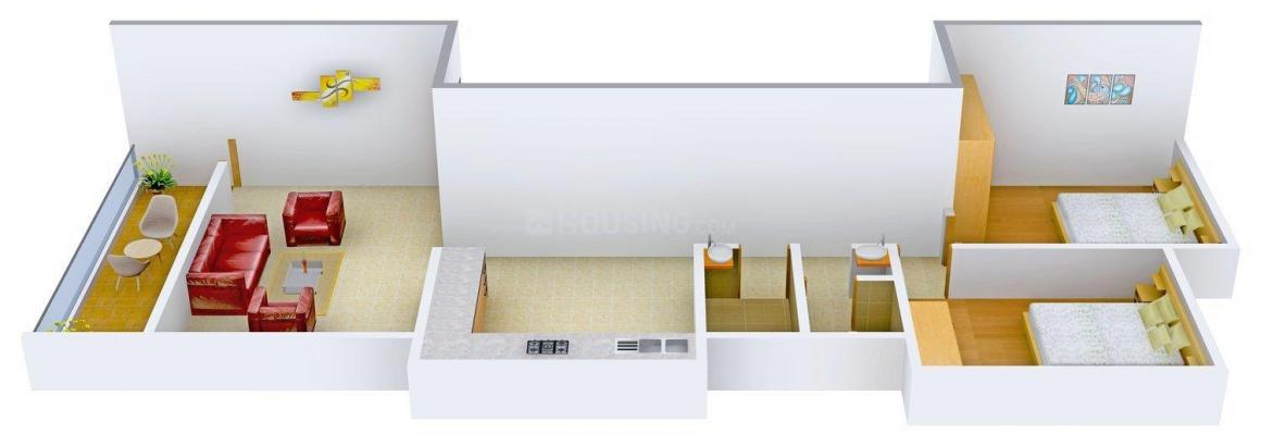 Floor Plan Image of 0 - 978 Sq.ft 2 BHK Apartment for buy in Sonal Ajinkya Residency