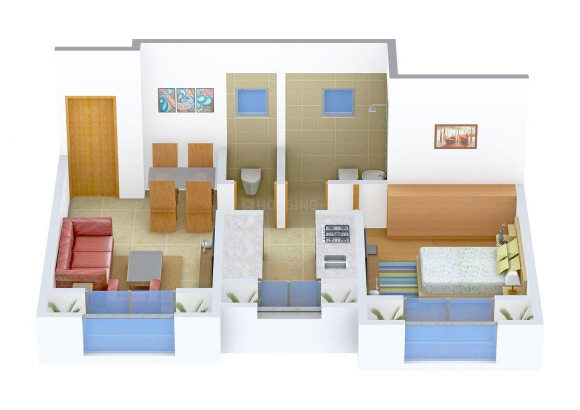 Floor Plan Image of 603 - 773 Sq.ft 1 BHK Apartment for buy in Key Krushna Leela