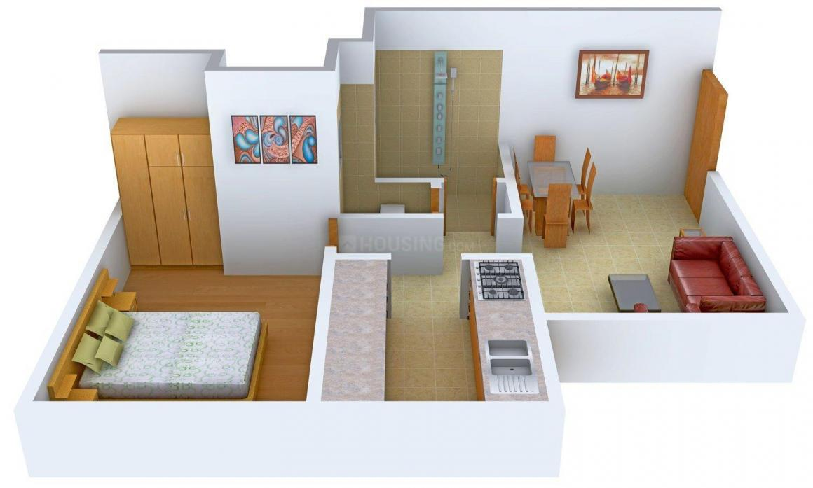 Floor Plan Image of 550 - 815 Sq.ft 1 BHK Apartment for buy in Shree Shubham Garden Phase II