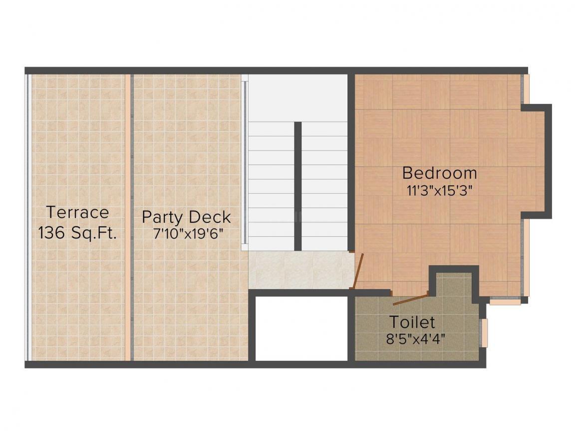 Deore Shubhamkaroti Floor Plan: 3 BHK Unit with Built up area of 3000 sq.ft 7