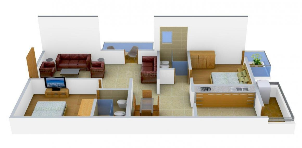 Floor Plan Image of 0 - 1192 Sq.ft 2 BHK Apartment for buy in Trifecta Verdure