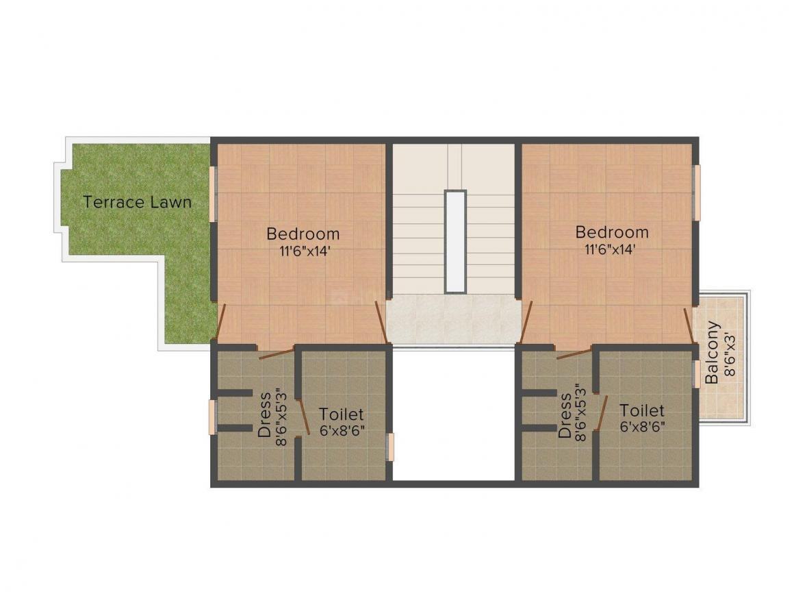 Floor Plan Image of 2103.0 - 2193.0 Sq.ft 3 BHK Villa for buy in Alliance Amrit - II