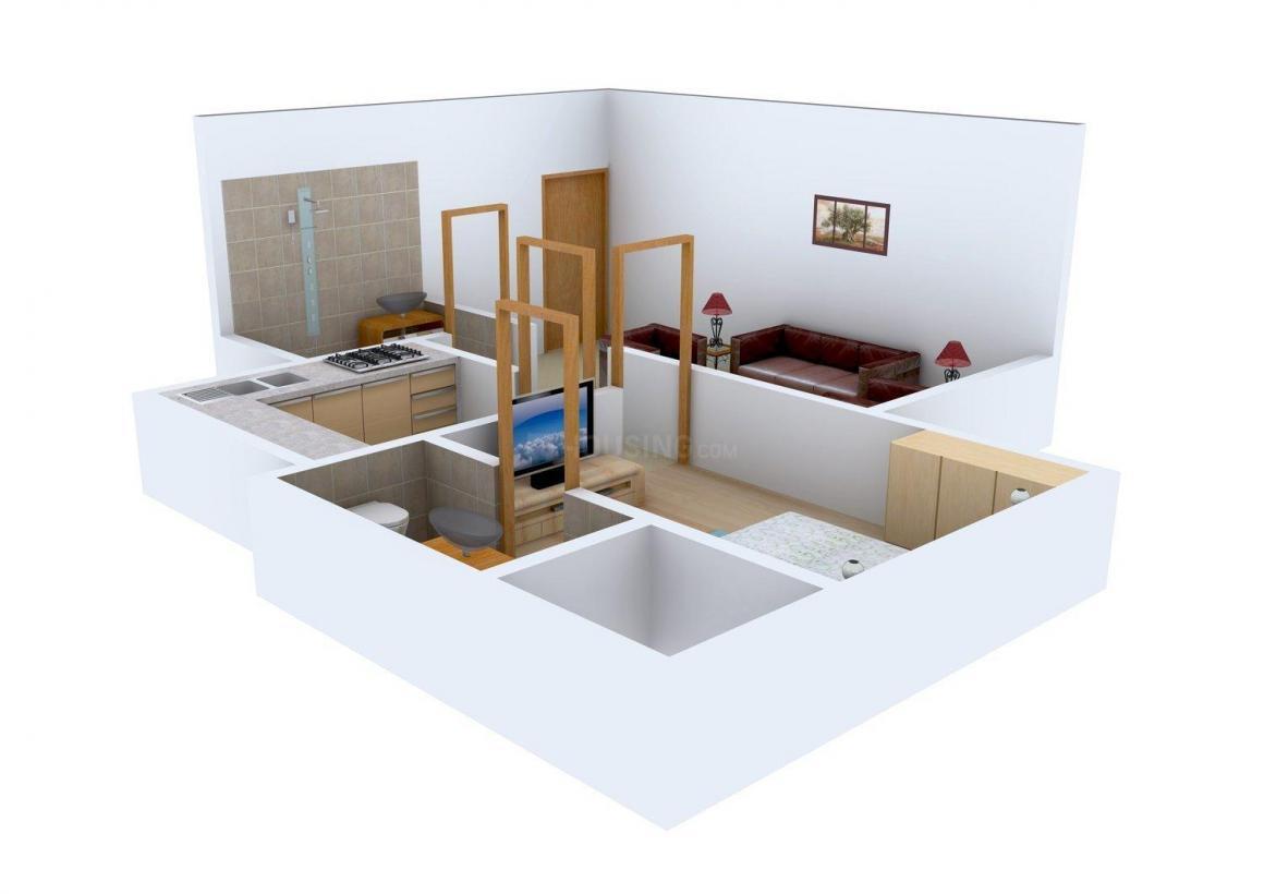Floor Plan Image of 500.0 - 1950.0 Sq.ft 1 BHK Apartment for buy in Heena Gokul Crescent