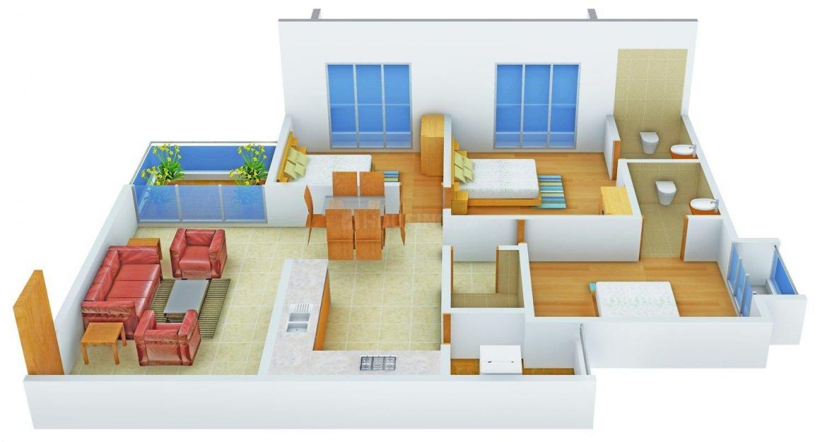 Floor Plan Image of 0 - 1692.0 Sq.ft 3 BHK Apartment for buy in MD Maruti Magnum