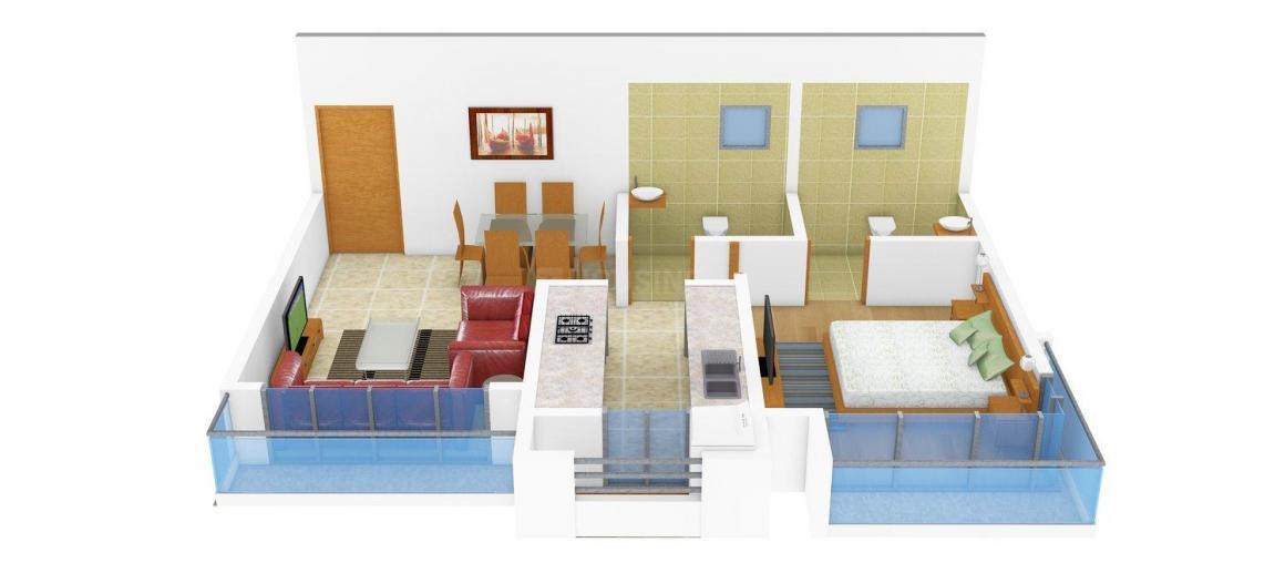 Floor Plan Image of 650.0 - 1250.0 Sq.ft 1 BHK Apartment for buy in Mit Niketan