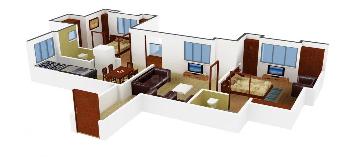 Floor Plan Image of 1079.0 - 1728.0 Sq.ft 2 BHK Apartment for buy in A.V. Bhat Ashwini Heritage