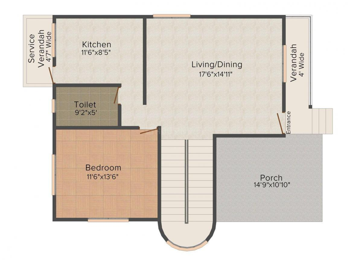 Floor Plan Image of 0 - 1981 Sq.ft 3 BHK Bungalow for buy in Royal Saffire