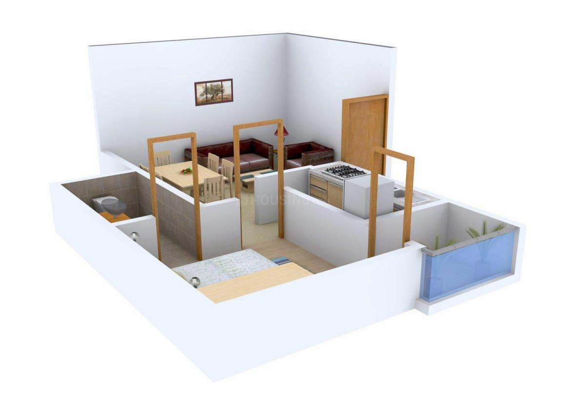 Floor Plan Image of 550.0 - 945.0 Sq.ft 1 BHK Apartment for buy in KCC Engineers Enclave