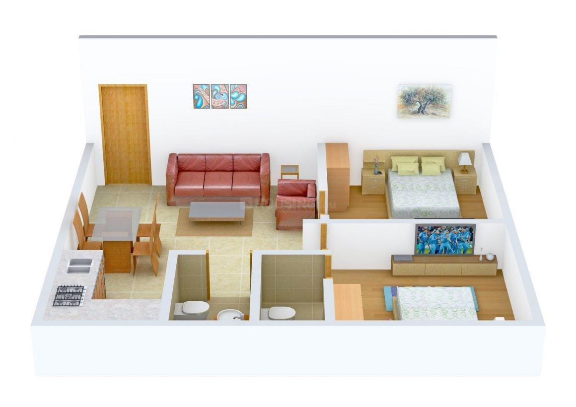 Floor Plan Image of 726 - 944 Sq.ft 2 BHK Apartment for buy in Rose Garden