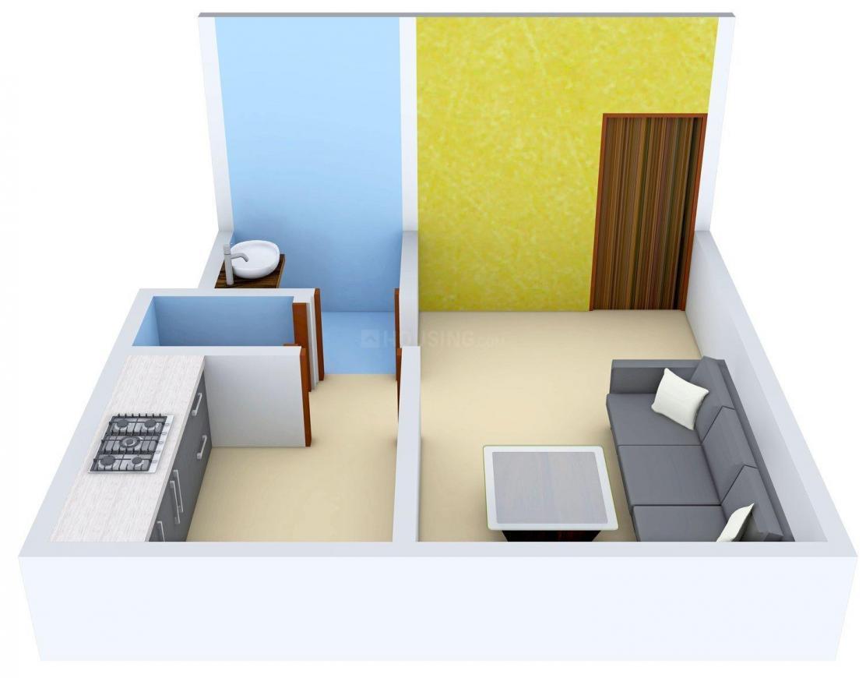 Floor Plan Image of 335.0 - 650.0 Sq.ft 1 RK Apartment for buy in Guru Om