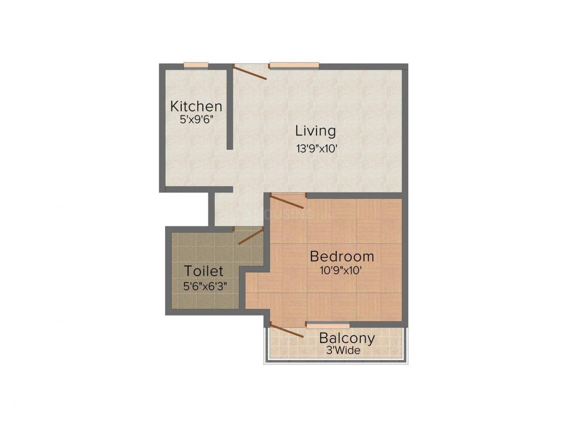 Floor Plan Image of 570.0 - 925.0 Sq.ft 1 BHK Apartment for buy in Capital Ultratechomes Aryavan Residency