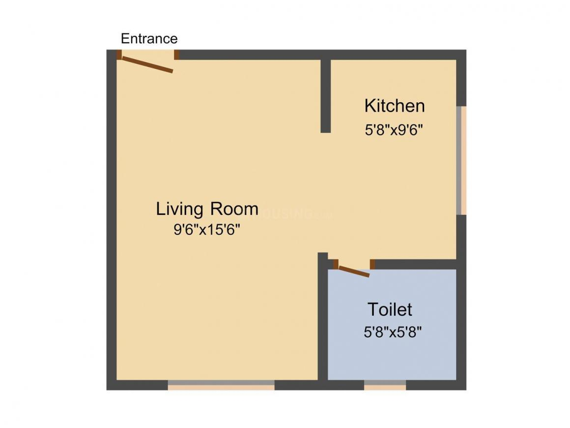 Floor Plan Image of 342.0 - 1707.0 Sq.ft 1 RK Apartment for buy in Sheltrex Smart Phone City