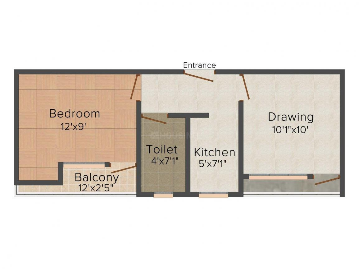 Floor Plan Image of 450 - 700 Sq.ft 1 BHK Independent Floor for buy in Lakshay Homes