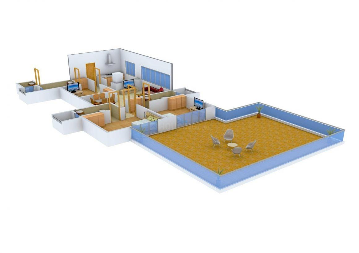Floor Plan Image of 0 - 910.0 Sq.ft 3 BHK Apartment for buy in Ekta Iris