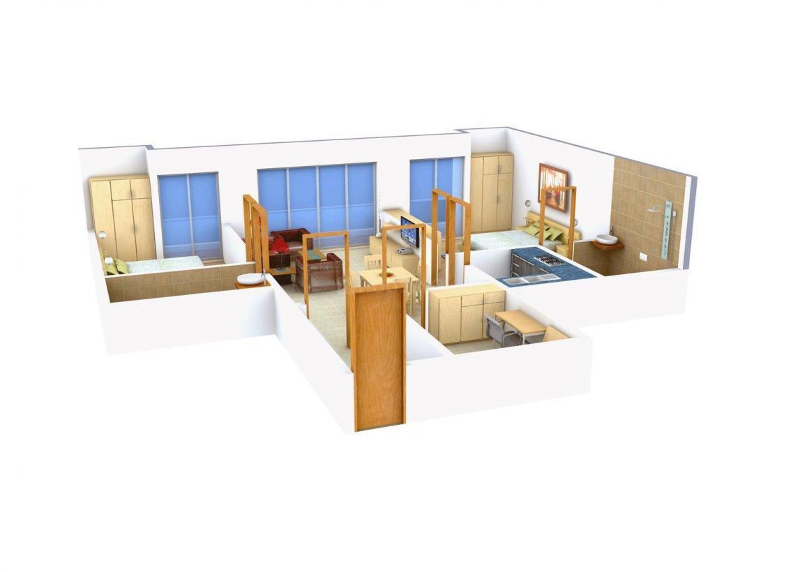 Floor Plan Image of 1250 - 1600 Sq.ft 2 BHK Apartment for buy in Micasa Veera Gardens