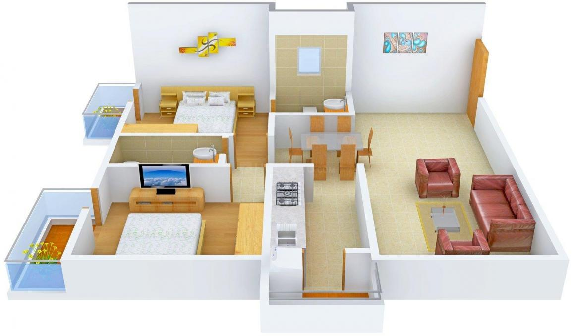Floor Plan Image of 1015.0 - 1899.0 Sq.ft 2 BHK Apartment for buy in Sovereign Sonna