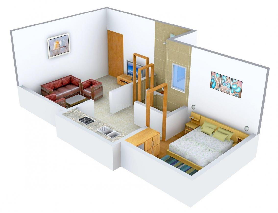 Floor Plan Image of 495 - 720 Sq.ft 1 BHK Apartment for buy in Sai Paradise