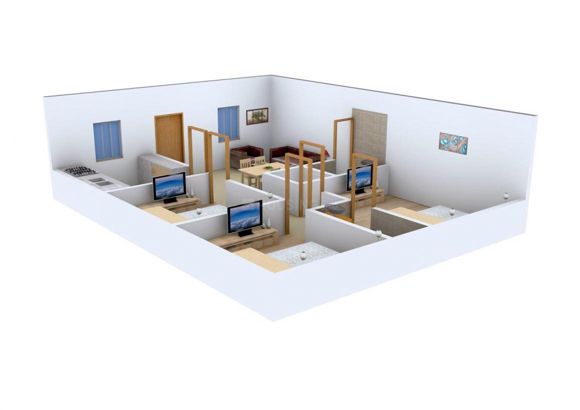 Floor Plan Image of 0 - 1100.0 Sq.ft 3 BHK Apartment for buy in Suprabhath Veera