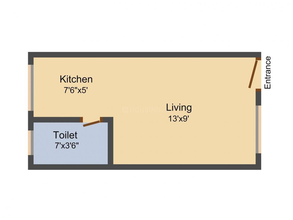Priya chandika manor Floor Plan: 1 BHK Unit with Built up area of 300 sq.ft 1