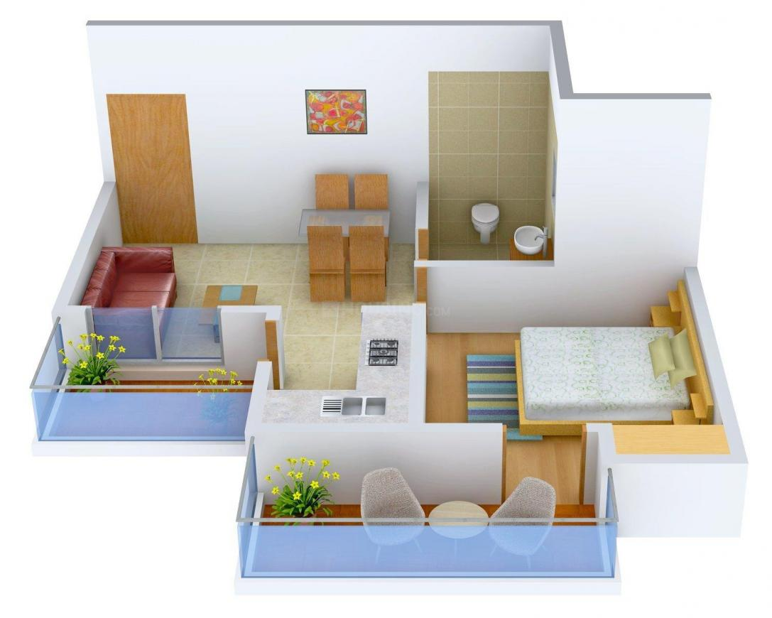 Floor Plan Image of 0 - 720 Sq.ft 1 BHK Independent Floor for buy in Shri Shyam SS Floor - 9