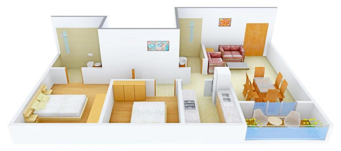 Floor Plan Image of 1110 - 1890 Sq.ft 2 BHK Apartment for buy in Ideal Ideal Niketan