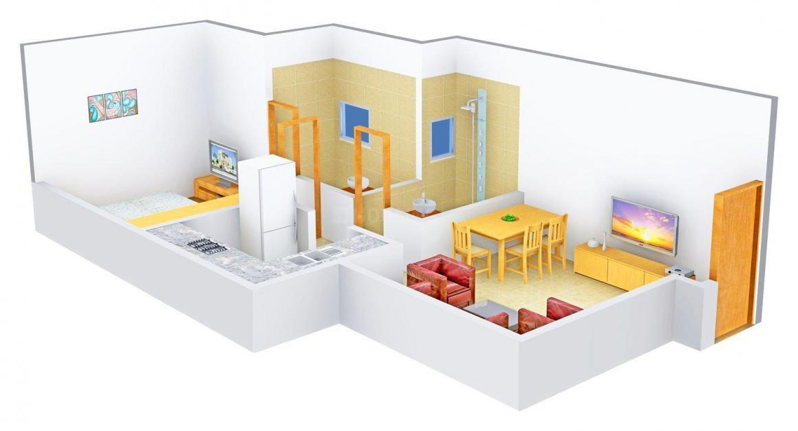 Vinay Unique Corner Floor Plan: 1 BHK Unit with Built up area of 416 sq.ft 1